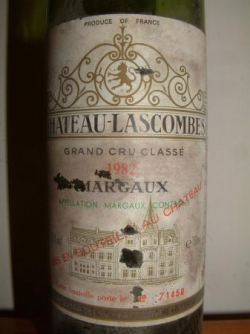 MARGAUX CHATEAU LASCOMBES 1982