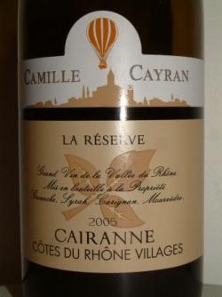 CAMILLE CAYRAN 2005 LA RESERVE