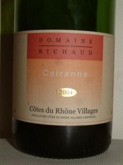 CAIRANNE ROSE 2004