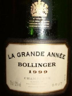 LA GRANDE ANNEE 1999 DE BOLLINGER