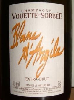 BLANC D'ARGILE 2005 EXTRA BRUT DU DOMAINE VOUETTE