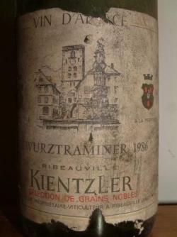 GEWURZTRAMINER SGN 1986 DE KIENTZLER