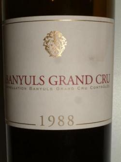 BANYULS GRAND CRU 1988 CAVE DE L'ETOILE