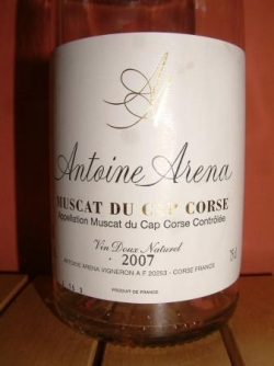MUSCAT DU CAP CORSE 2007 ANTOINE ARENA