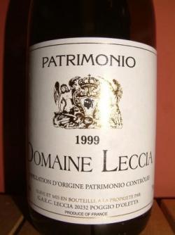 PATRIMONIO DOMAINE LECCIA 1999