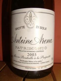 GROTTE DI SOLE ROUGE 2003 ANTOINE ARENA