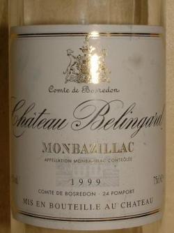 MONTBAZILLAC CHATEAU BELINGARD 1999