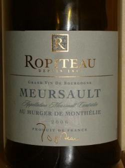 AU MURGER DE MONTHELIE 2006 DE ROPITEAU