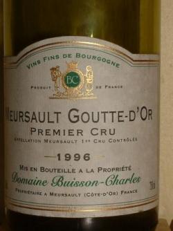 MEURSAULT GOUTTE D'OR 1996 BUISSON CHARLES