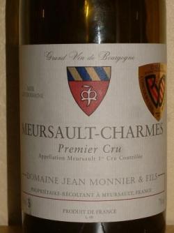 MEURSAULT CHARMES 2004 JEAN MONNIER