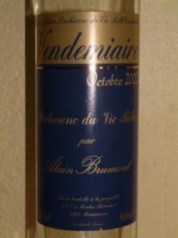 VENDEMIAIRE 2002 DE BRUMONT