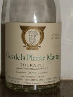 Clos de la Plante Martin 2005 de chez Charles Jogu
