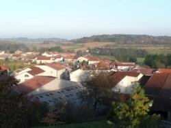 Vue du village de Bleurville