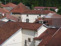 Vue sur les toits de Bleurville