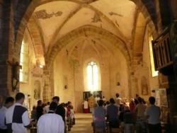 La messe en l'abbatiale Saint-Maur