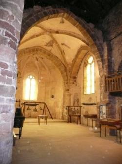 Nef et choeur de l'abbatiale Saint-Maur