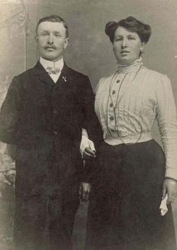 Pierre Bretagnolle et sa femme Amélie Reyrolle