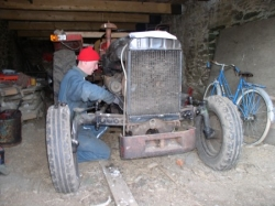 david met le massey ferguson en route