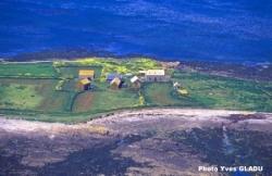Une photo aérienne prise par Yves gladu en 2005