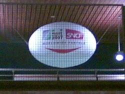 Le ballon souriant de la station RER B