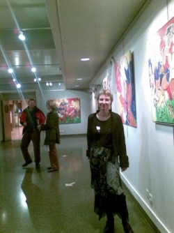 Un aperçu de l'expo, avec l'artiste