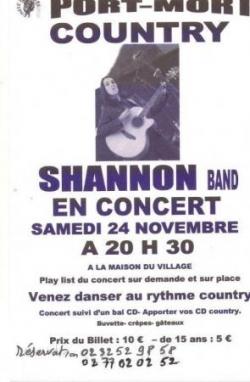 Concert de Shannon Wild à Port-Mort le 24 novembre 2012