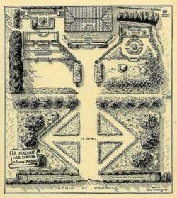 Le plan du jardin, dressé par Roger Joseph