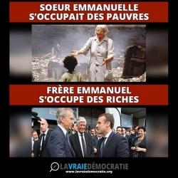 Macron et Soeur Emanuelle...