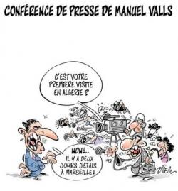 Manuel Valls à... où ça, déjà ?....