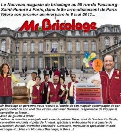 """Les """"un an"""" de M. Bricolage..."""