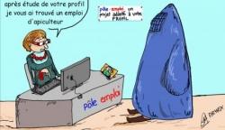 Burqa et Pôle emploi...