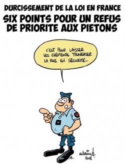 Macron : traverser la rue...