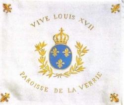 Drapeau de la Paroisse de La Verrie...