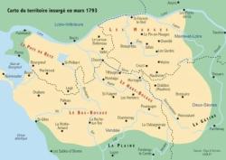 Zone insurgée en mars 1793