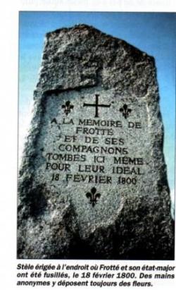 La stèle de Louis de Frotté....