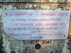 Lescure (IV): Calvaire des Besnardières (détail).