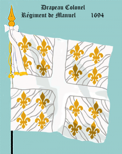 Régiment de Manuel, Drapeau colonel