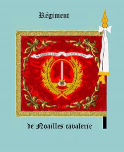 Le Noailles dragons (Drapeau, revers)