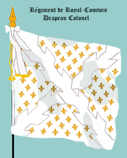 Régiment de Royal-Comtois, Drapeau colonel