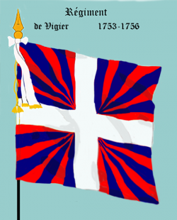 Régiment de Vigier, second drapeau