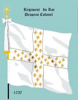 Régiment du Roi, Drapeau colonel