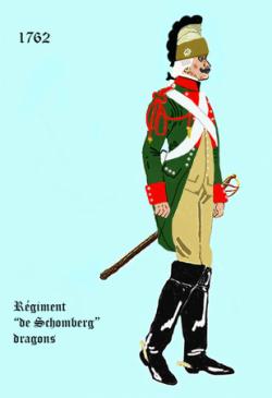 Le Schomberg dragons, régiment de Maurice de Saxe