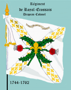 Royal Ecossais, Drapeau colonel