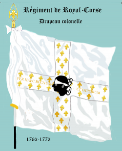 Régiment Royal Corse, Drapeau colonel