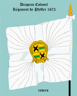 Régiment de Pfyffer, Drapeau colonel
