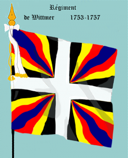 Régiment de Wittmer, second drapeau