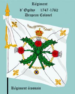 Régiment d'Ogilvy, Drapeau colonel