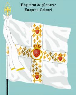 Régiment de Navarre, Drapeau colonel