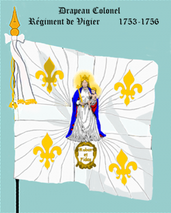 Régiment de Vigier, second Drapeau colonel