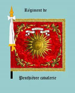 Le Penthièvre-dragons (Drapeau, avers)